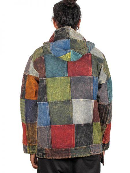 Sudadera hippie patchwork lavada a la piedra - Detalle Comprar al mayor o detalle