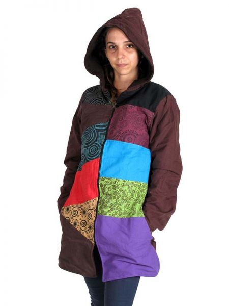 Abrigo hippie patchwork Estampado. - Detalle Comprar al mayor o detalle
