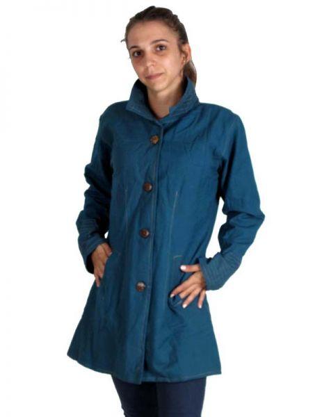 Abrigo de algodón con botones de madera, con bolsillos laterales Comprar - Venta Mayorista y detalle
