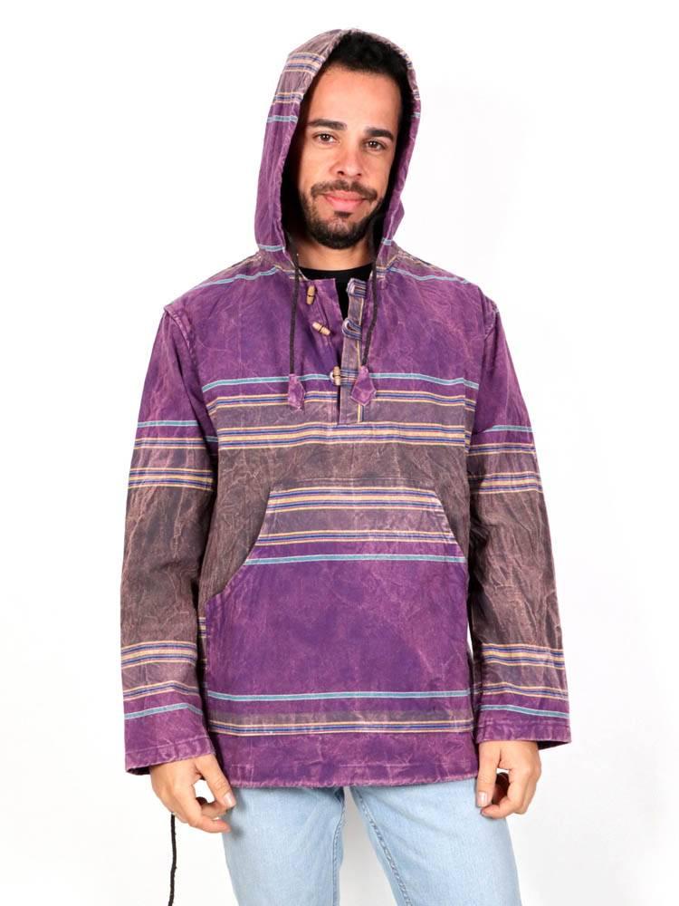 Sudaderas - Abrigos - Sudadera de Loneta Hippie Tipo Canguro [CHHC41] para comprar al por mayor o detalle  en la categoría de Ropa Hippie Alternativa para Hombre.