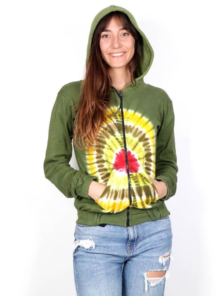 Felpa Hippie Tie Dye Frontale [CHHC42] da acquistare all'ingrosso o in dettaglio nella categoria di Felpe per ragazze