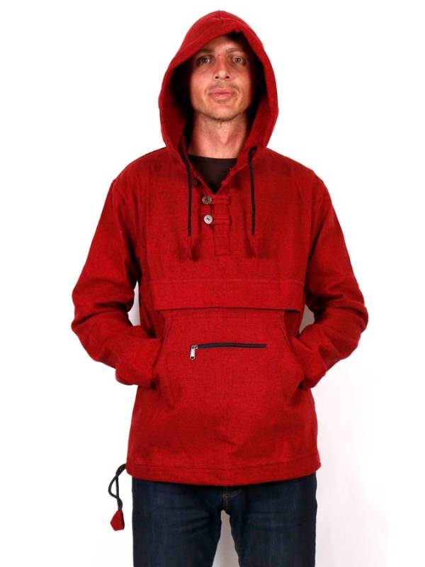 Hoodies and Coats - CHHC44 Kangaroo Hippie Canvas Sweatshirt to buy wholesale or Detail in the category of Hippie Clothing for Men