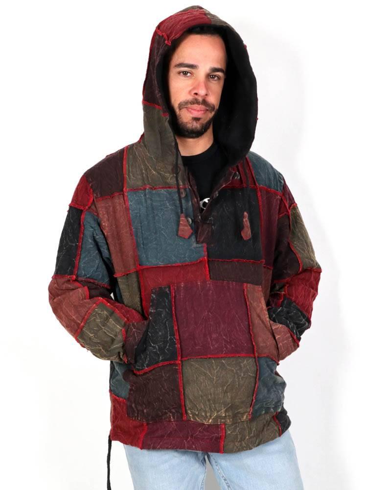 Sudaderas y Abrigos - Sudadera Invierno Hippie Patchwork. CHHC48 para comprar al por Mayor o Detalle en la categoría de Ropa Hippie para Hombre