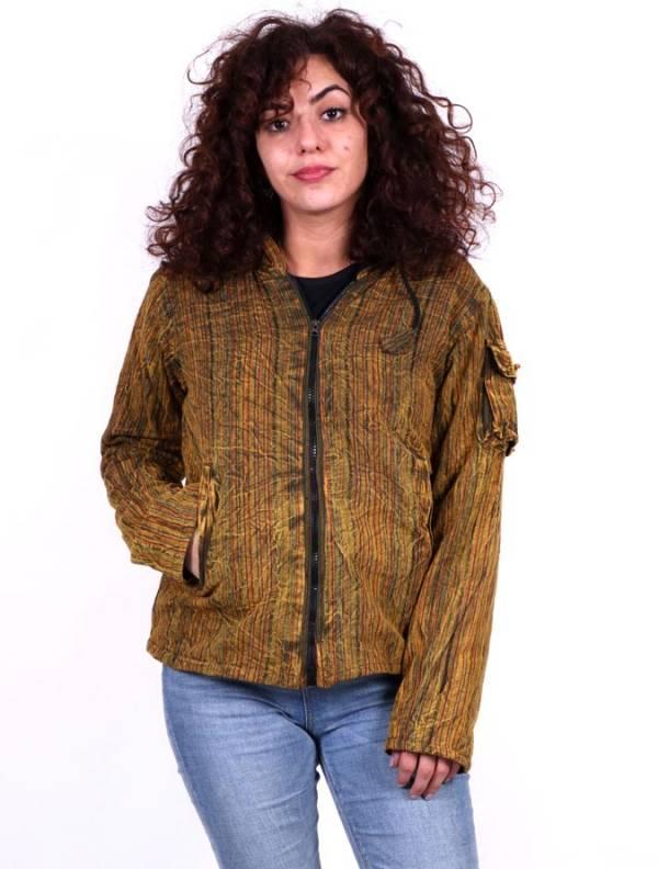 Vestes et manteaux - Veste d'hiver rayée lavée à la pierre CHHC49 pour acheter en gros ou Détail dans la catégorie Vêtements Hippie pour femmes