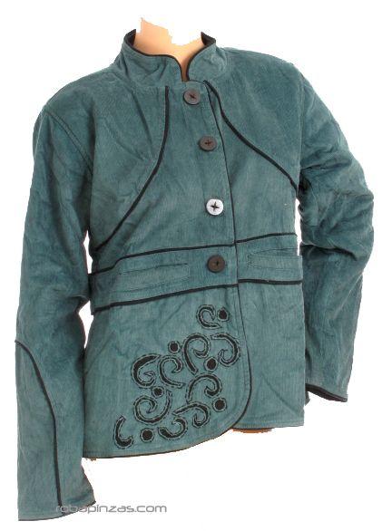 Cazadora de pana detalles bordados, con forro polar interno y bolsillos Comprar - Venta Mayorista y detalle
