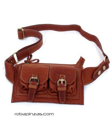 Cinto riñonera piel de alta calidad, varios bolsillos externos e Comprar - Venta Mayorista y detalle