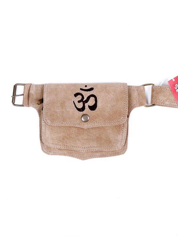 Riñoneras y Cartucheras Hippies - Riñonera de cuero con Om [CIGO05-B] para comprar al por mayor o detalle  en la categoría de Complementos Hippies Alternativos.