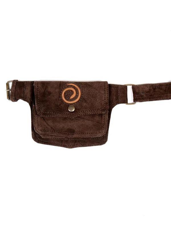 Riñonera de cuero diseño Espiral [CIGO05-C] para comprar al por Mayor o Detalle en la categoría de Riñoneras y Cartucheras Hippies