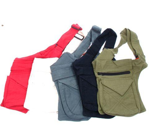 Bolso para cintura y/o hombro varios bolsillos cremalleras, bolsillos Comprar - Venta Mayorista y detalle