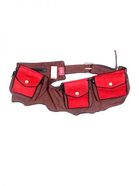 Cinturón multibolsillos regulable bicolor, multiples bolsillos. Pana [CIHC05]. Riñoneras / Cartucheras para comprar al por mayor o detalle  en la categoría de Complementos Hippies Étnicos Alternativos.