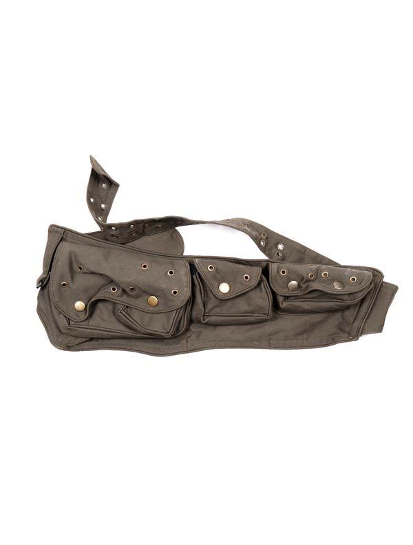 Cinturón multiblosillos loneta, - Verde Comprar al mayor o detalle
