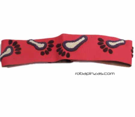 Cinturón ancho brocado diseño de Pies, hebilla de madera, Comprar - Venta Mayorista y detalle