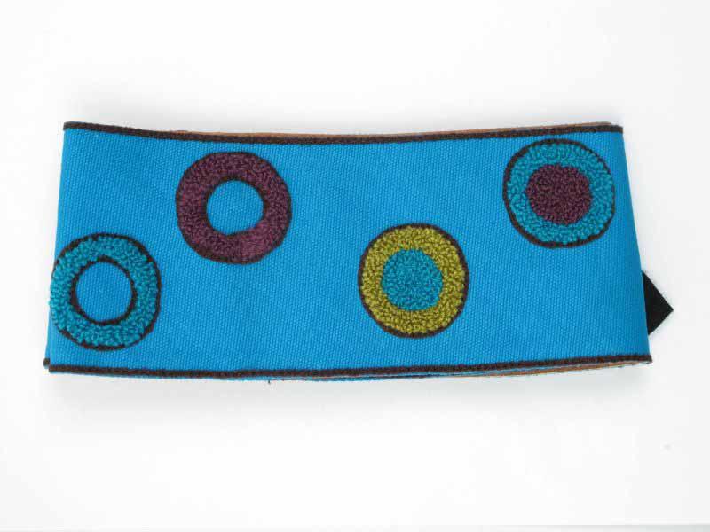 Cinturón algodón brocado luna llena, hebilla de madera con velcro Comprar - Venta Mayorista y detalle