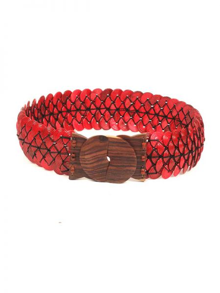 Cinturón étnico coco hebilla madera Comprar - Venta Mayorista y detalle