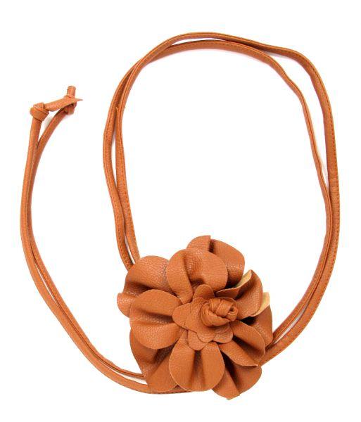 cinturón flor cuero pa, con cordón de piel Comprar - Venta Mayorista y detalle