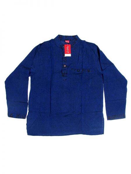 Camisa hippie de manga larga - Azul os Comprar al mayor o detalle