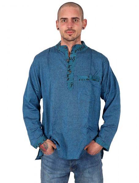 Camisa hippie de manga larga CLEV04 para comprar al por mayor o detalle  en la categoría de Ropa Hippie Alternativa para Hombre.