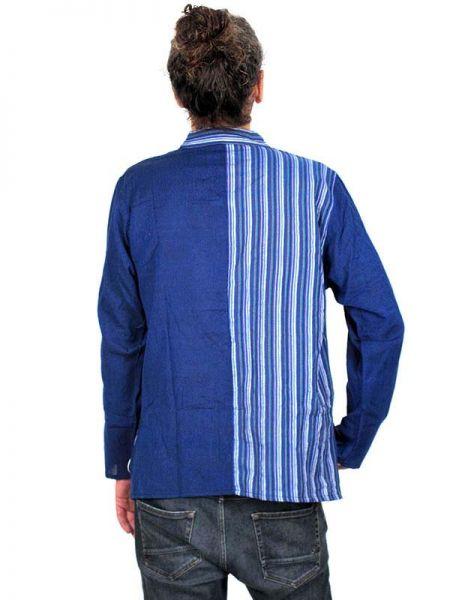 Camisas Hippies M Larga - Camisa de algodón combinado CLEV05.