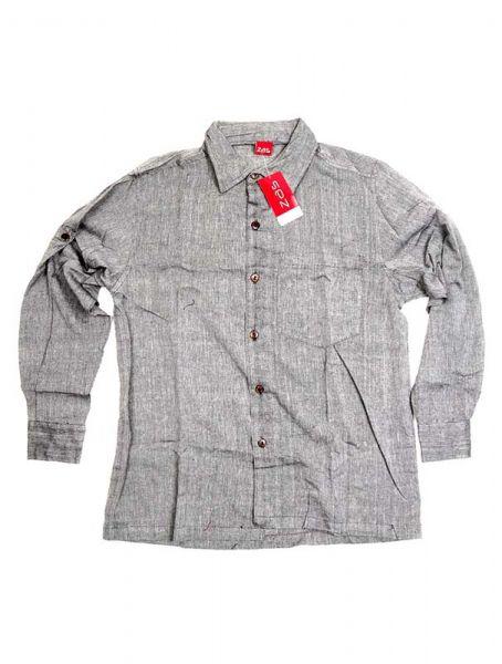 Camisa hippie lisa de manga larga - Gris Comprar al mayor o detalle