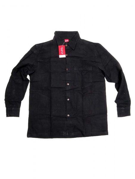 Camisa hippie lisa de manga larga - Negro Comprar al mayor o detalle