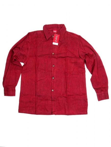Camisa hippie lisa de manga larga - Granate Comprar al mayor o detalle