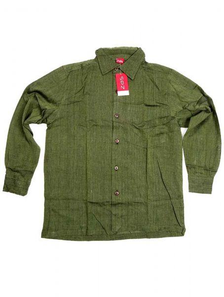 Camisa hippie lisa de manga larga - Verde Comprar al mayor o detalle