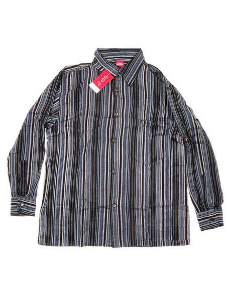 Camisa hippie de rayas manga larga - Negro 2 Comprar al mayor o detalle