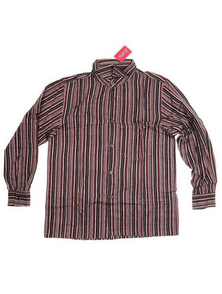 Camisa hippie de rayas manga larga - Negro Comprar al mayor o detalle