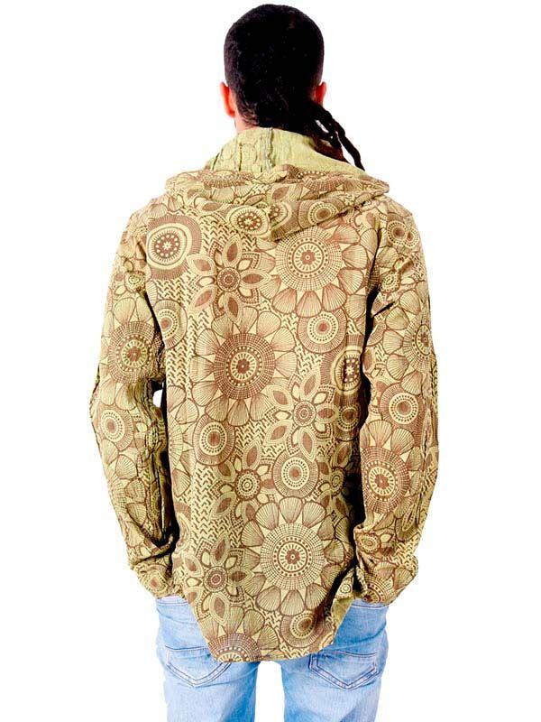 Camisa hippie Flores lavada a la Piedra - Detalle Comprar al mayor o detalle