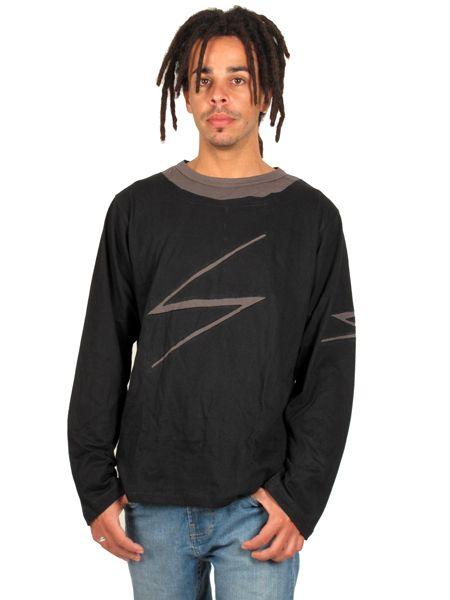 Camiseta de manga larga de algodón con decoración rayo Comprar - Venta Mayorista y detalle