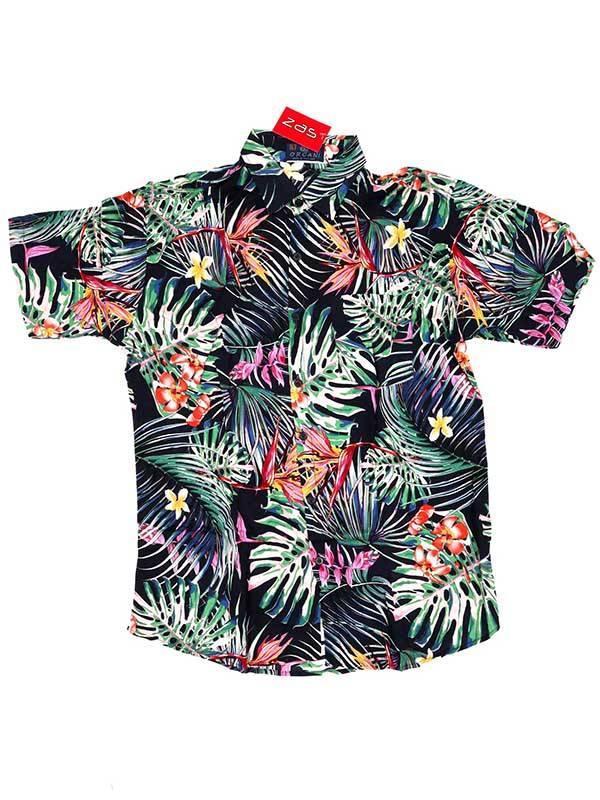 Camisa de rayón con estampados de flores - M3 Comprar al mayor o detalle