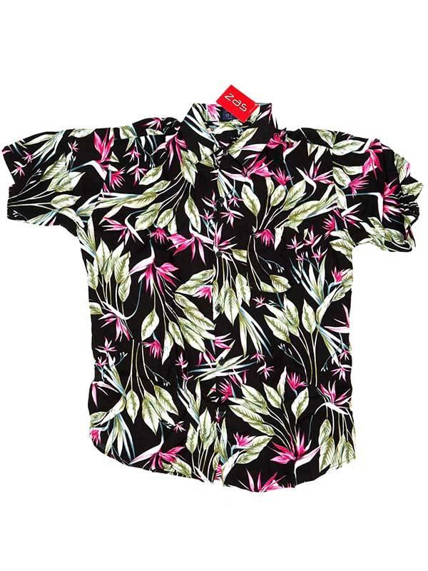 Camisa de rayón con estampados de flores - M2 Comprar al mayor o detalle