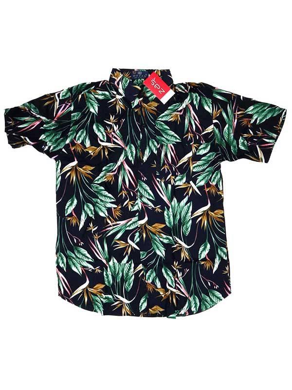 Camisas Hippies M Corta - Camisa de rayón con estampados de flores CMEK07 para comprar al por Mayor o Detalle en la categoría de Ropa Hippie Alternativa para Hombre