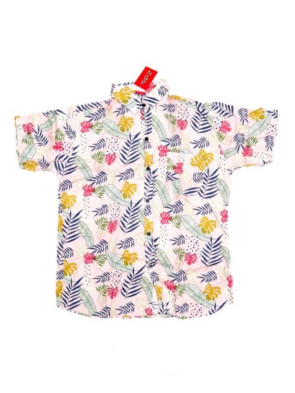 Camisa de rayón con estampados de flores - Rosa Comprar al mayor o detalle