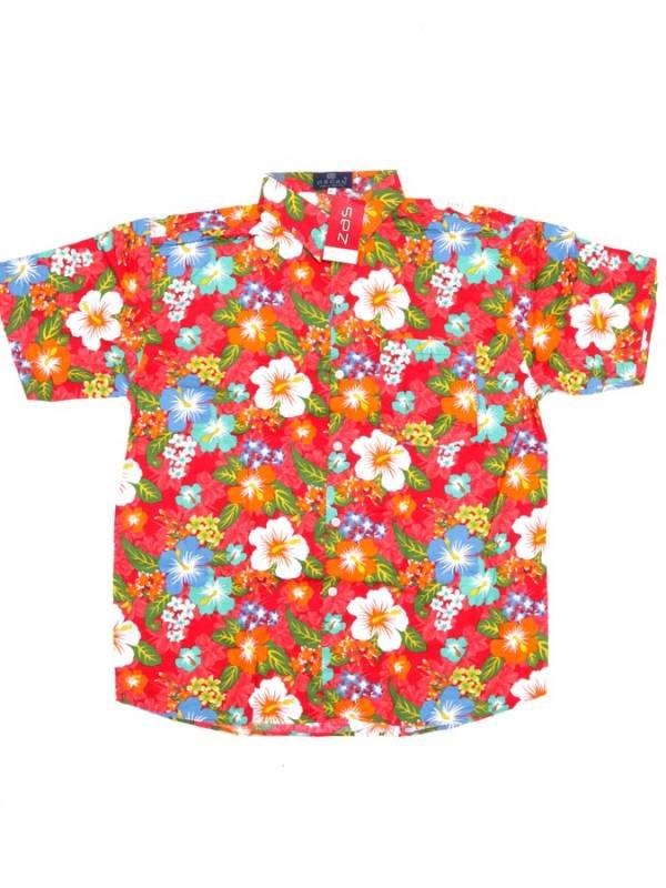 Camisa Flores de colores - Rojo Comprar al mayor o detalle