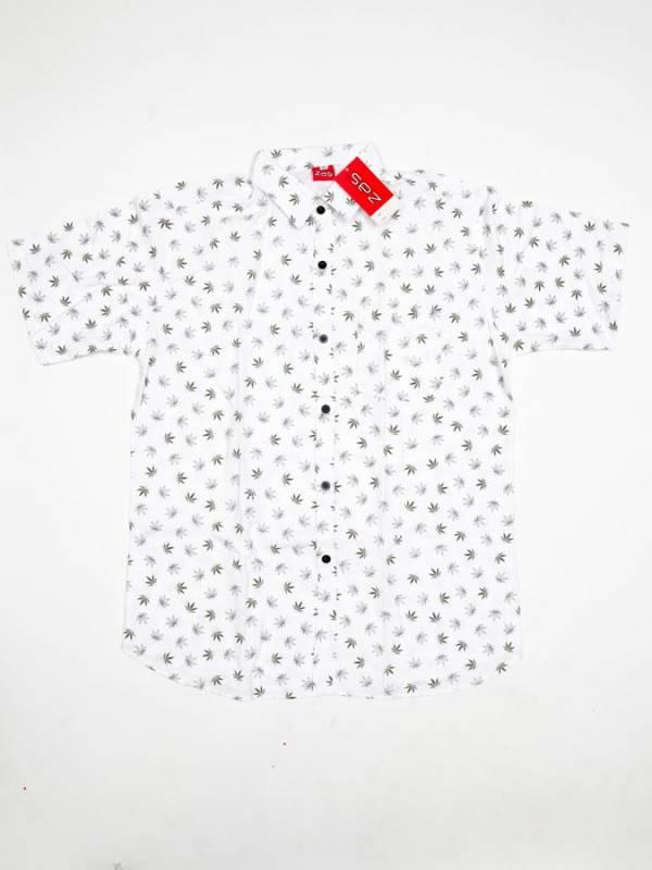 Camisa Hojas de Marihuana Pequeñas - Blanco Comprar al mayor o detalle