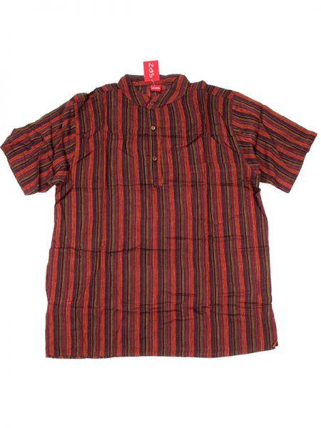 Camisa hippie de rayas - Granate Comprar al mayor o detalle