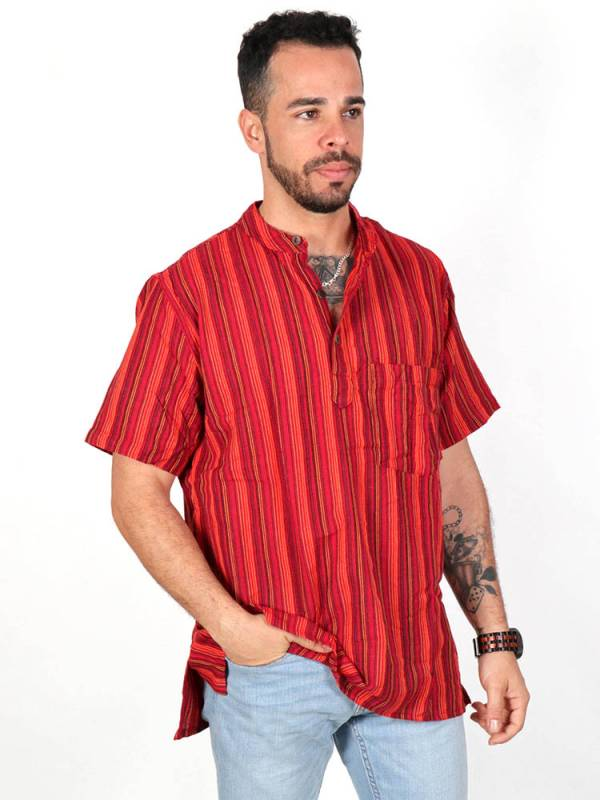 Striped hippie shirt [CMEV02] to buy wholesale or detail in the category of Short Sleeve Shirts