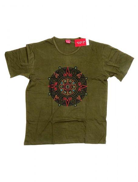 Camiseta de manga corta de algodón estampado mandala bordado Comprar - Venta Mayorista y detalle