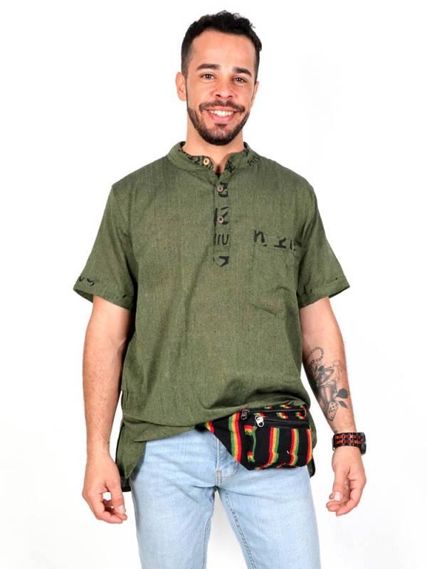 Camisas Hippies M Corta - Camisa hippie de manga corta [CMEV07] para comprar al por mayor o detalle  en la categoría de Ropa Hippie Alternativa para Hombre.