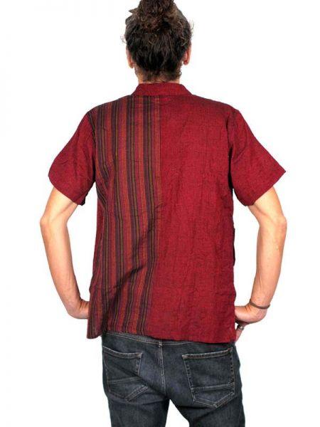 Camisas Hippies M Corta - Camisa de algodón combinado CMEV08.