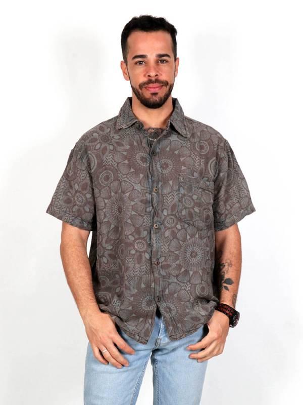 Camisas Hippies M Corta - Camisa hippie estampado mandalas [CMEV10] para comprar al por mayor o detalle  en la categoría de Ropa Hippie Alternativa para Hombre.