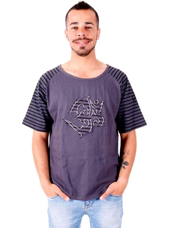 Camisetas T shirts - Camiseta Om rayas [CMEV11] para comprar al por mayor o detalle  en la categoría de Ropa Hippie Alternativa para Hombre.
