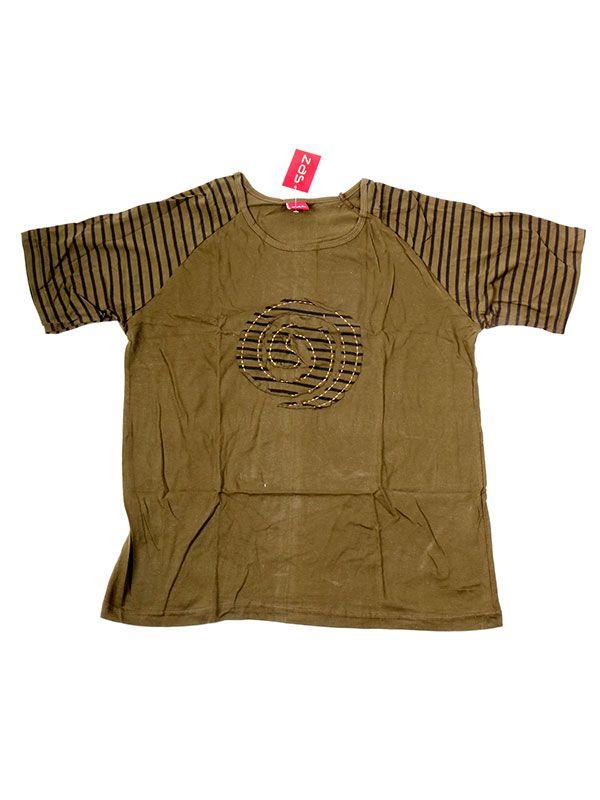 Camisetas T shirts - Camiseta Espiral Rayas [CMEV12] para comprar al por mayor o detalle  en la categoría de Ropa Hippie Étnica para Chicos.