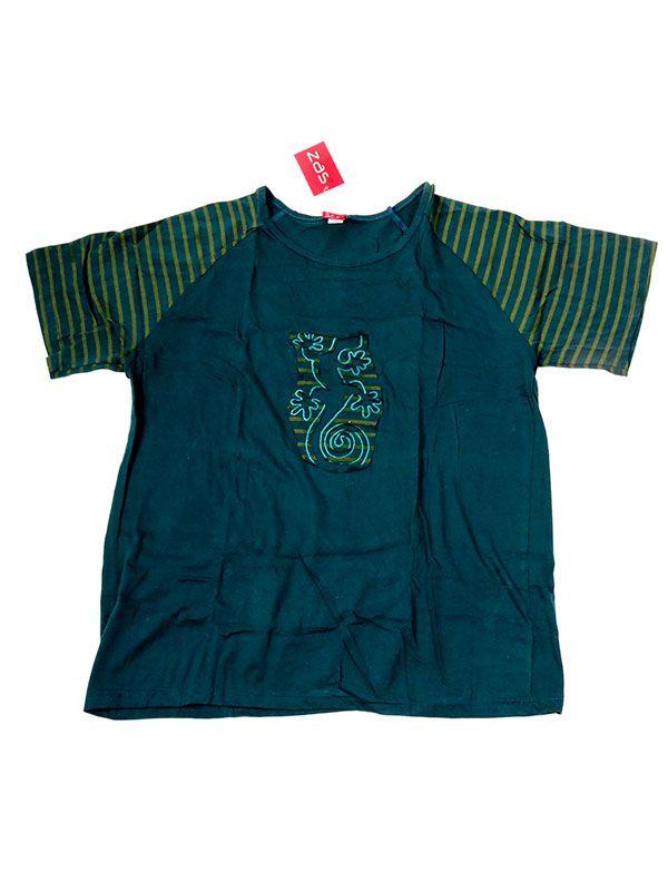 Camisetas T shirts - Camiseta Espiral Gecko [CMEV13] para comprar al por mayor o detalle  en la categoría de Ropa Hippie Étnica para Chicos.