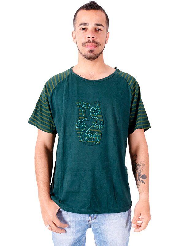 Camisetas T shirts - Camiseta Espiral Gecko [CMEV13] para comprar al por mayor o detalle  en la categoría de Ropa Hippie Alternativa para Hombre.