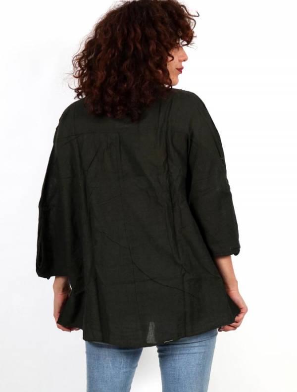 Camisola amplia con botón de coco - Detalle Comprar al mayor o detalle