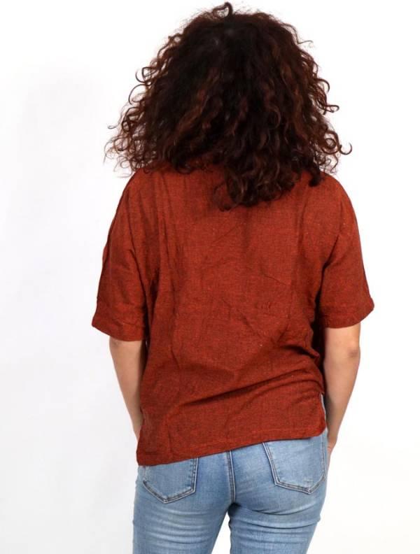 Camisa lisa con cuello pico - Detalle Comprar al mayor o detalle