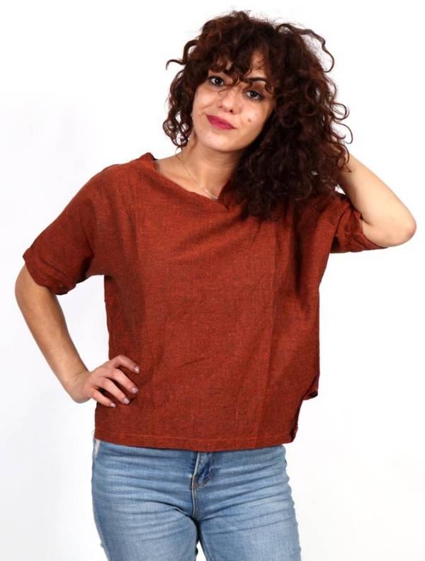Camisa lisa con cuello pico [CMEV16] para comprar al por Mayor o Detalle en la categoría de Camisetas Blusas y Tops