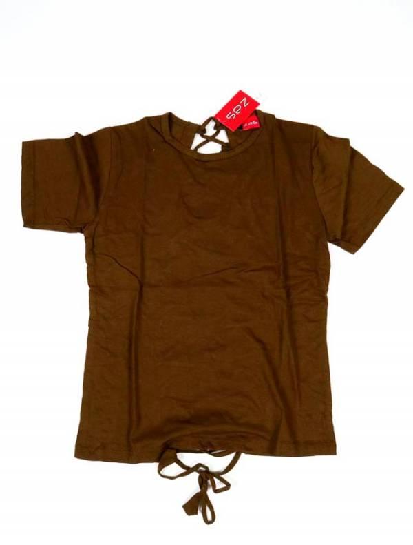 Camiseta Abierta en espalda - Marrón Comprar al mayor o detalle